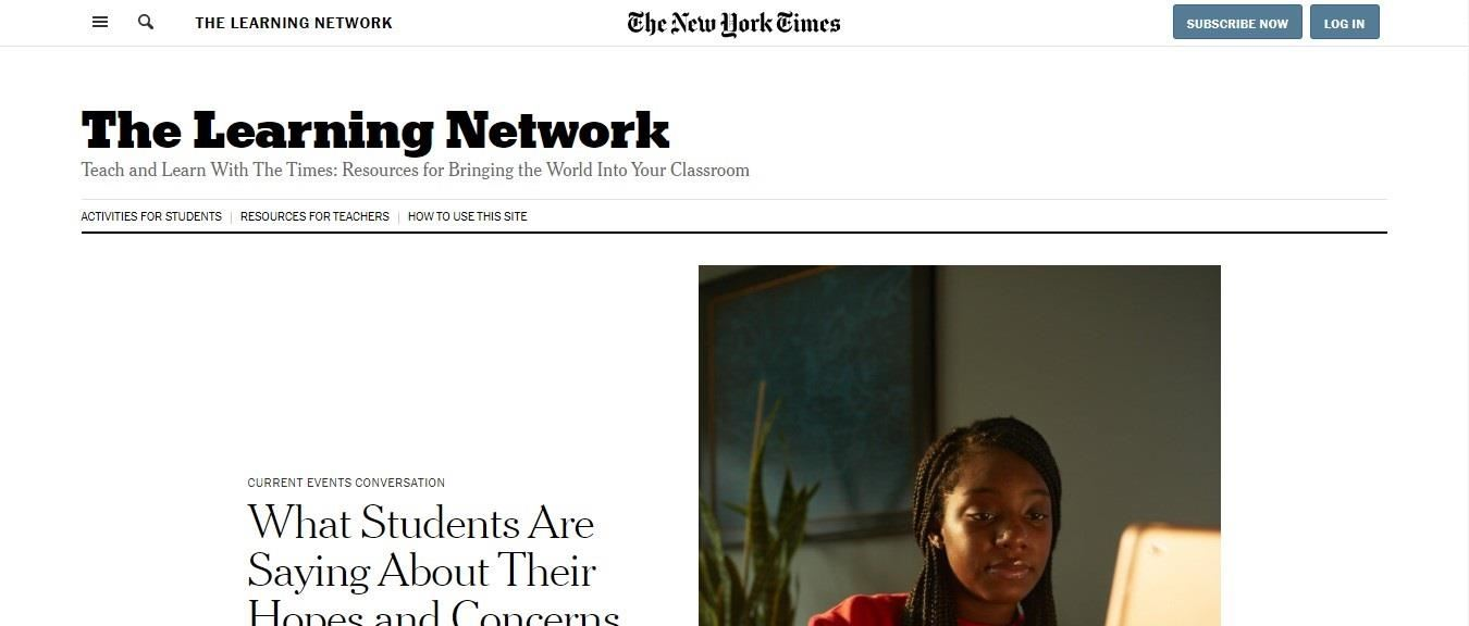 New York Times' Learning Network