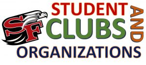 Text Image of Student clubs and organizations SF logo