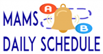 CLIP ART OF A BELL WITH POINT A CONNECTING TO POINT B CAPTIONED DAILY SCHEDULE
