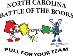 clipart of books playing tug of war - pull for your team