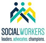 clipart social workers: leaders, advocates, champions-- logo