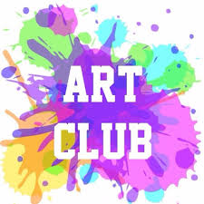 Paint splatter with words Art Club