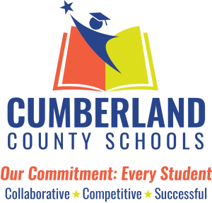 red, yellow and blue words, Cumberland County Schools, red letter, Our Commitment: Every Student