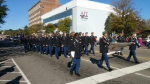 Image of the DBHS JROTC in a parade
