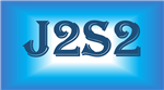 J2S2 on a white, aqua and royal blue gradient background