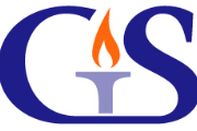 Governor's School logo with torch and the letters G and S in purple