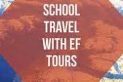 Red background of EF Tours