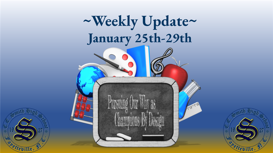 Student Weekly Update for January 25, 2021 - January 29, 2021