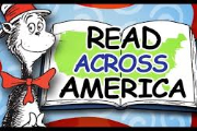 Image of the Cat in the Hat and a book with the caption Read Across America